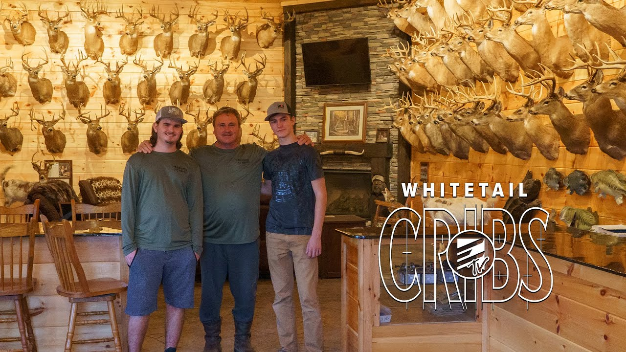 Whitetail Cribs: 71 Pope and Young Class Whitetails -over 10,000 Inches of Antler in ONE Trophy Room