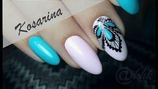 Рисуем кружево \\ Дизайн ногтей со стразами