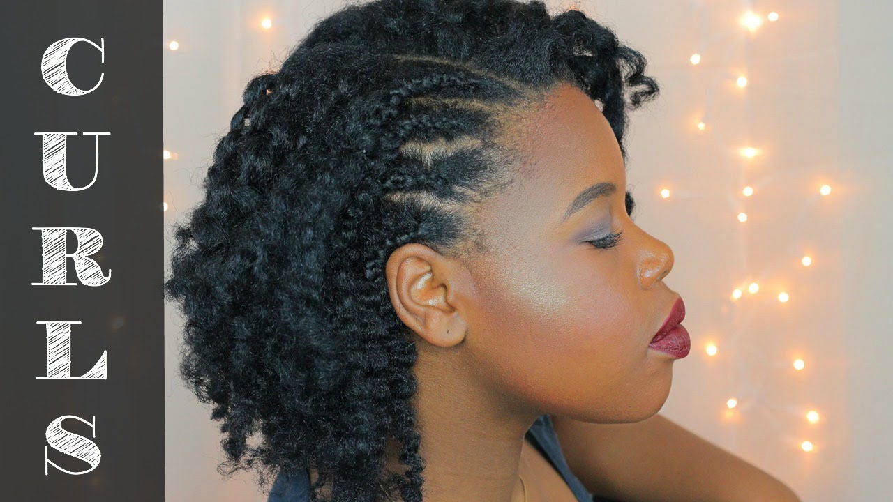 Side Cornrow Twist Out Natural Hair Style Jungle Naps Youtube