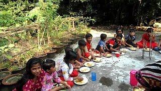 বনভোজন / Kids Picnic / Egg & Chicken Cooking By 4 -11 Years 20 Children Of Village / Eating Together