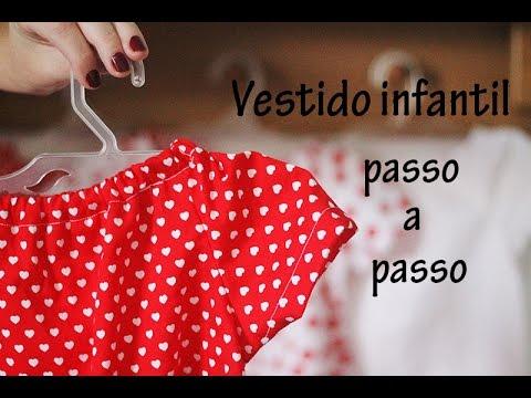 6e2aaa4c0e Vestido infantil passo a passo - YouTube