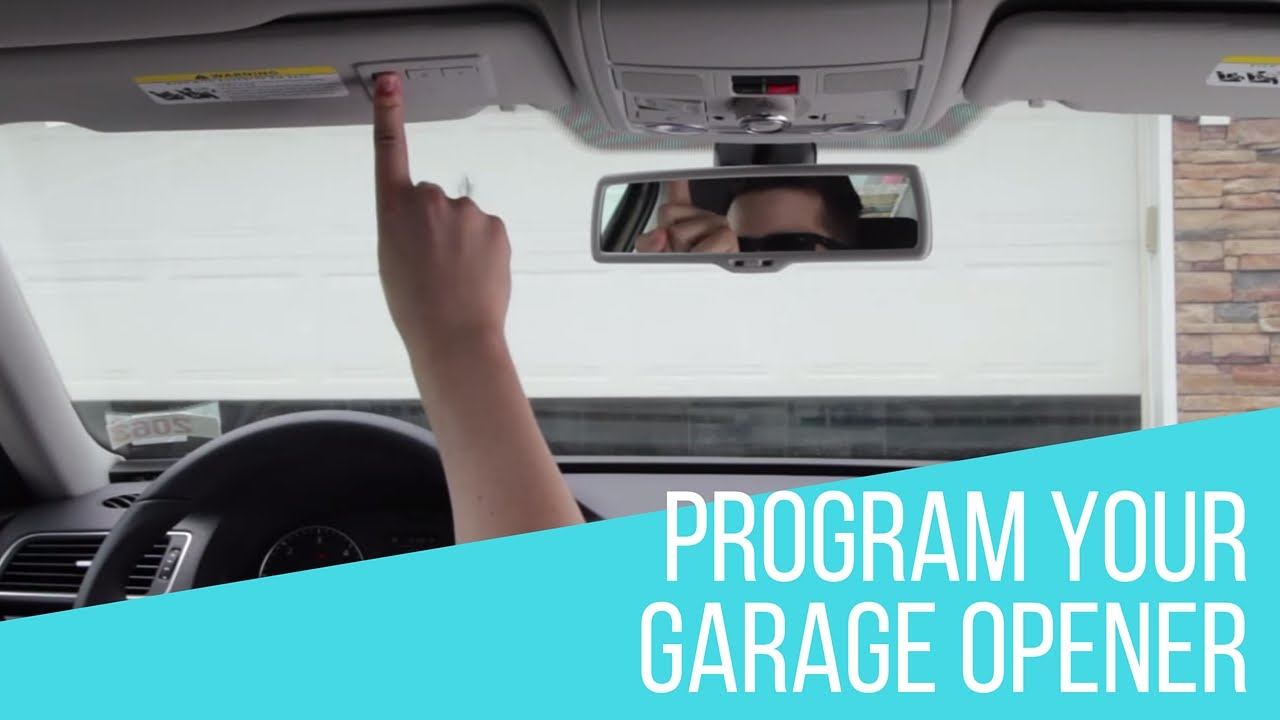 How to program garage opener in your volkswagen youtube rubansaba