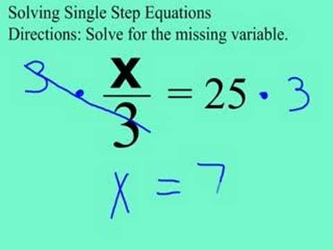 Grade 8: 1-Step Equation with Division (cmdn006) - YouTube