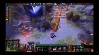 WINGS VS DC -  GAME 2 ,  SUN STRIKE - BLINK (invoker) VS W33 (mirana)  ,  El grito de Mr Choco