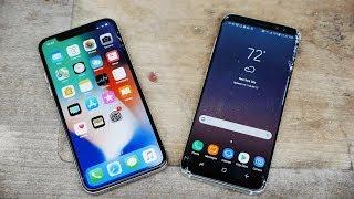 iphone x vs samsung galaxy s8 drop test