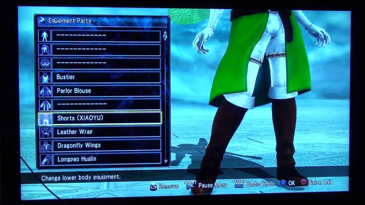 Soul Calibur 5 Edit Tutorial For Sword Art Online