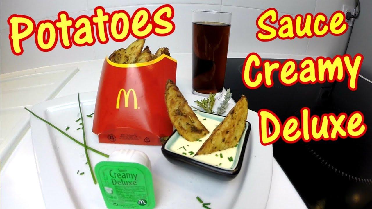 Connu Recette de Potatoes et sauce Creamy Deluxe comme au McDonald's  QH46