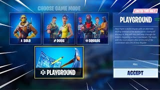 Playground Is Back NOW! Fortnite Playground Gameplay! NEW Playground Mode Update! (PLAYGROUND LIVE)