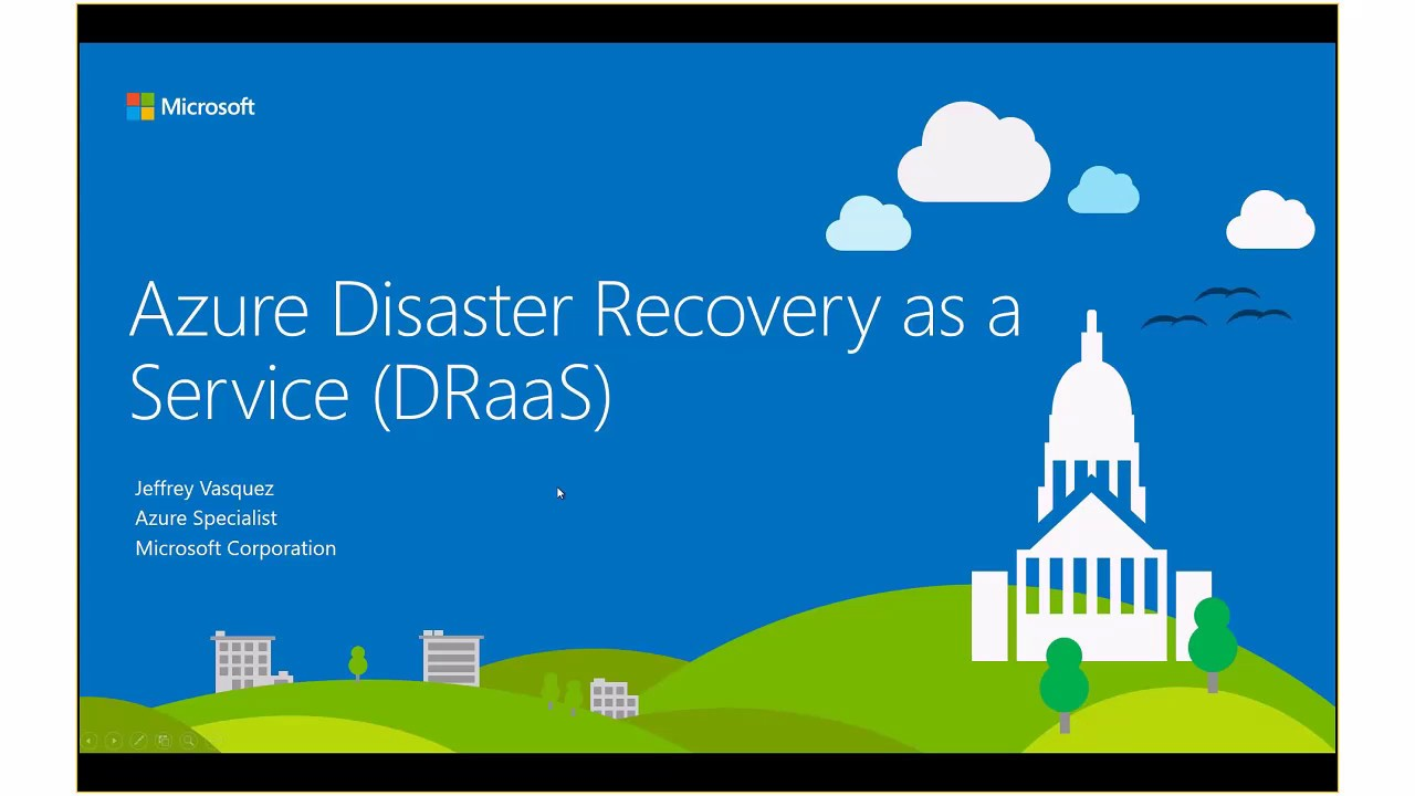 Disaster Recovery Specialist Disaster Recovery In The Cloud Azure Site Recovery