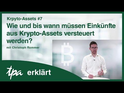 Krypto-Assets #7 Wie und bis wann müssen Einkünfte aus Krypto-Assets versteuert werden? - TPA
