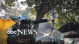 Students square off against police in Hong Kong l ABC News