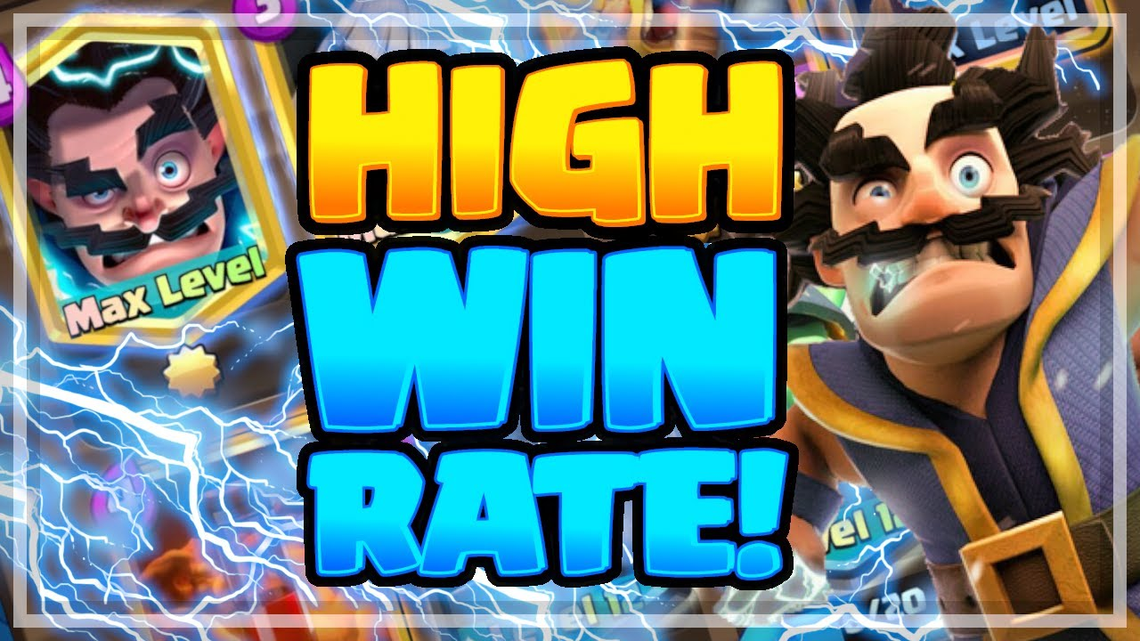 High Win Rate Best Electro Wizard Deck For Ladder W Ram Rider Clash Royale 2020 Arena 6 7 8 9 Youtube