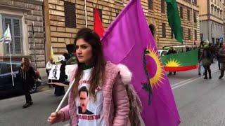 Manifestazione pro-curda a Roma contro attacco turco su Afrin