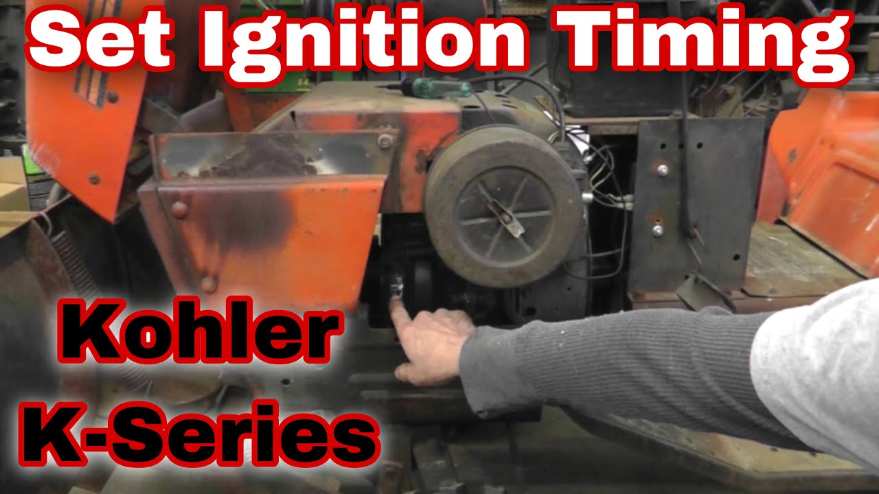 How To Set Ignition Timing On A Kohler K Series Engine With Taryl Ch20s Wiring Diagram Colors