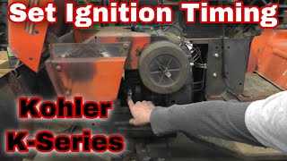 How To Set Ignition Timing On A Kohler K Series Engine with Taryl