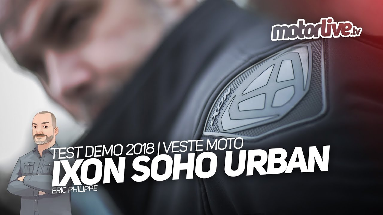 Equipement Test Urban Soho Youtube Veste Ixon Demo 7nfX7tw