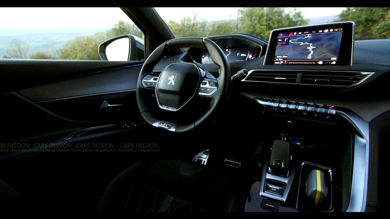New peugeot 3008 icockpit futuristic interior youtube for Interieur nouveau 3008