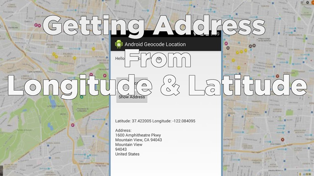 Geocoding to get Location Address in Android - Tutorial - YouTube on