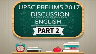[ENGLISH] UPSC Prelims 2017 Analysis Part 2