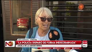 Nena herida a la salida de un partido de Racing en Nueva Italia