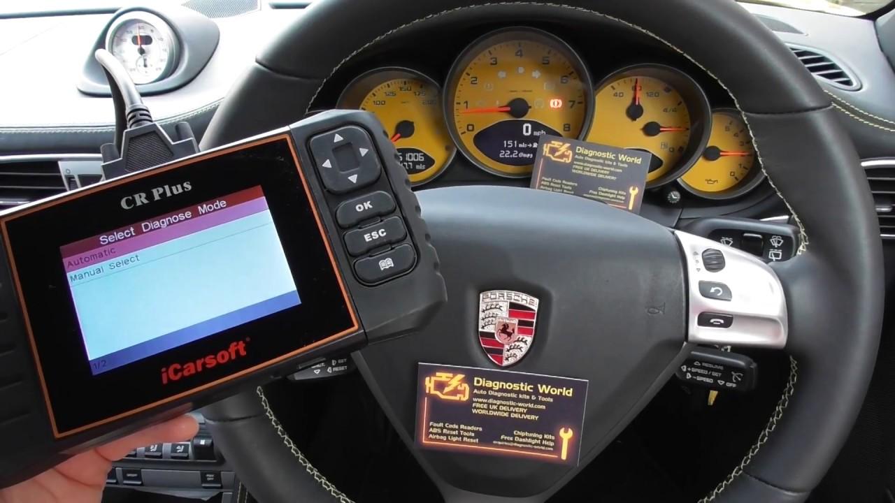 icarsoft cr plus diagnose reset porsche 911 997 airbag. Black Bedroom Furniture Sets. Home Design Ideas