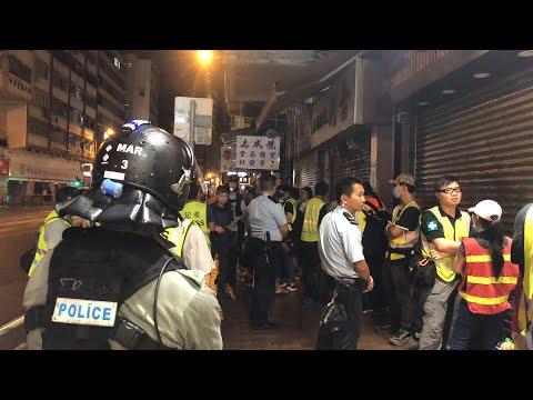【直播】西環有警察在攔截搜身民眾