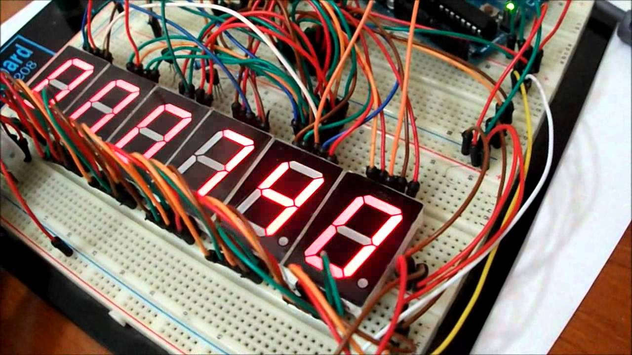 Controll 6 Digit Seven Segment By An Arduino And 2 Shift