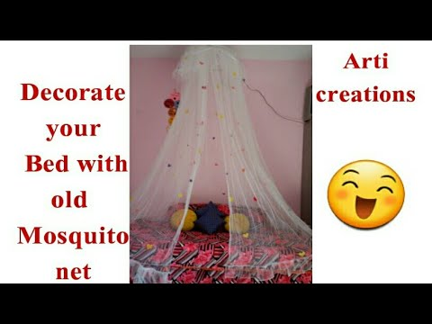 Diy Bed Canopy From Mosquito Net You