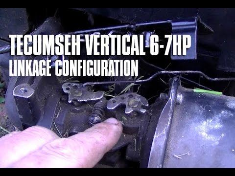 6-7HP Tecumseh Vertical Engine Throttle & Choke Linkage Configuration