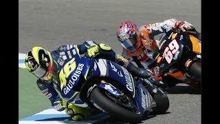 Valentino Rossi vs Nicky Hayden MotoGP Sachsenring 2005