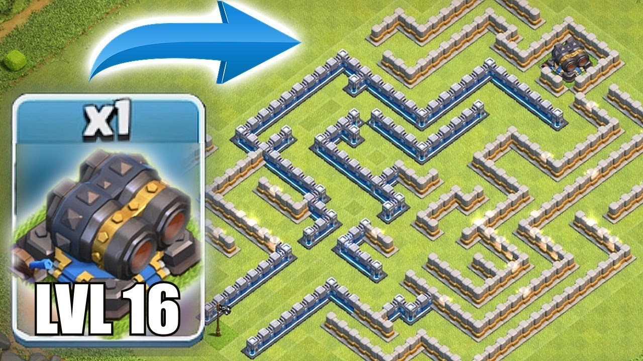 """ITS IMPOSSIBLE TO BEAT!! """"Clash Of Clans"""" ROUND 2 LVL 16 CANNON MAZE"""