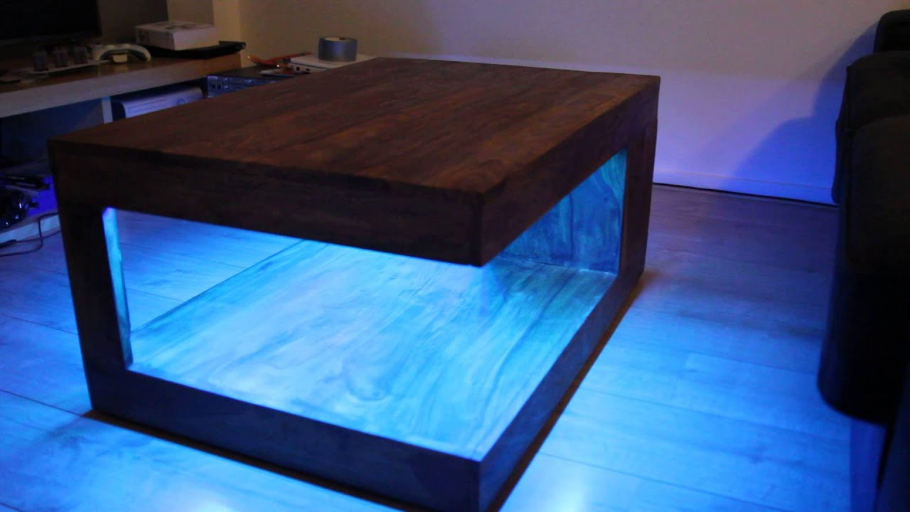 Bluetooth rgb led coffee table youtube Led coffee table