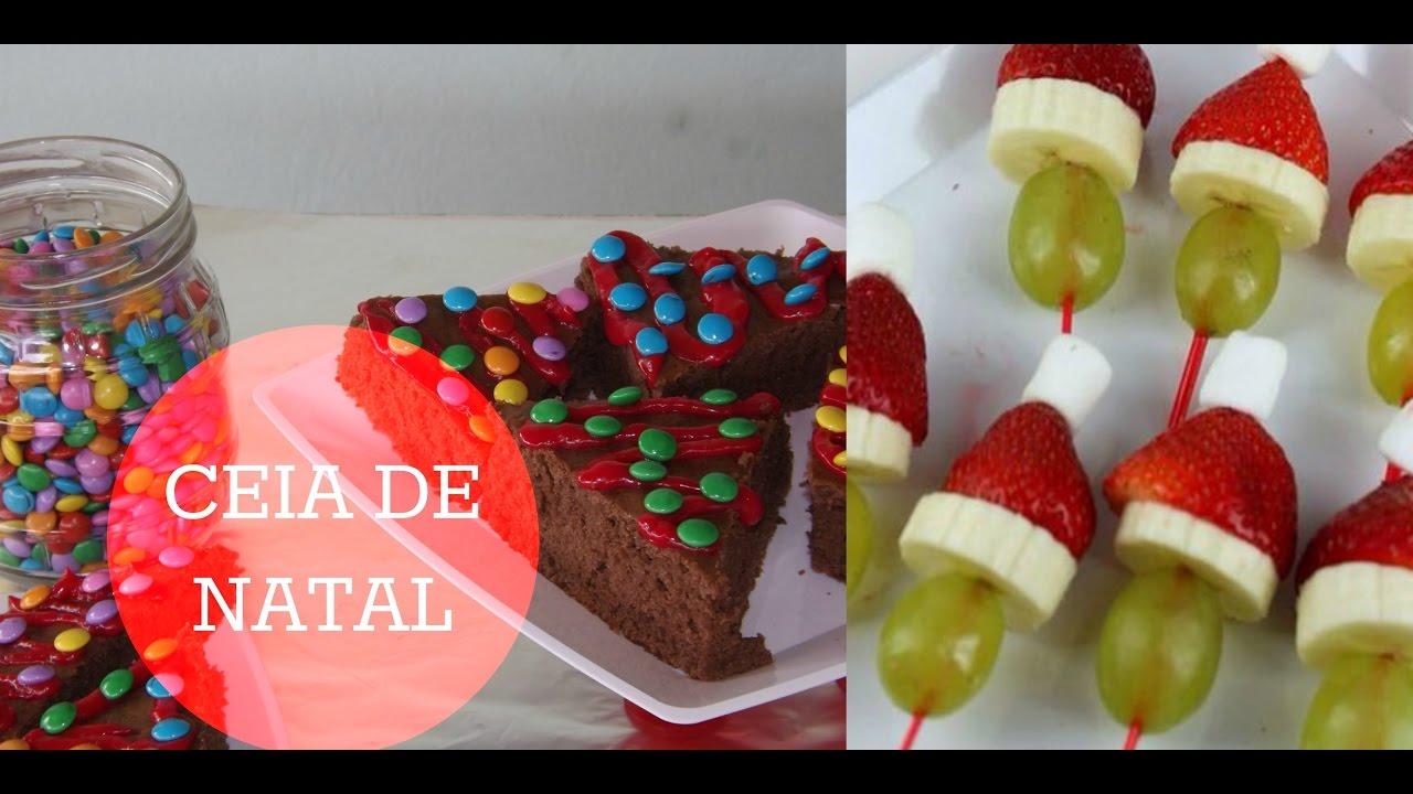 DIY Ceia de Natal Decoraç u00e3o e sobremesa YouTube -> Decoração Ceia De Natal Simples