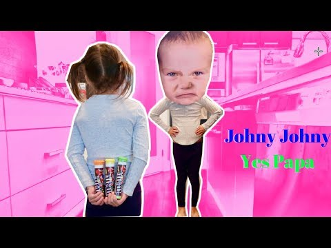Johny Johny Yes Papa Baby Takes LOTS of Candy Nursery Rhyme Songs for Kids & Babies
