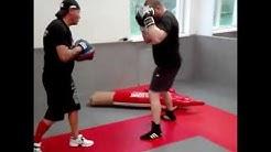 boxing pads workout Miroslav Nikolov