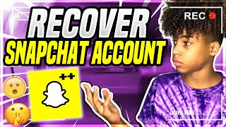 How To RECOVER Snapchat Account WITHOUT ANYTHING!
