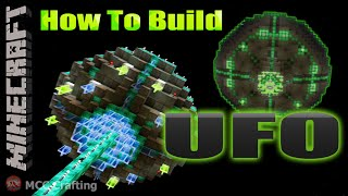 Minecraft How To Build An Alien UFO Spaceship Flying Saucer Tutorial PS3/4/Xbox/PC