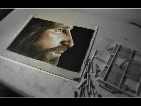 realistic-oil-pastel-drawing-of-jesus