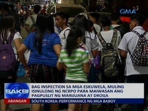Bag inspection sa mga eskuwela, muling isinulong ng NCRPO