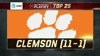 Clemson No. 1 in the new College Football Playoff Top 25 | ESPN