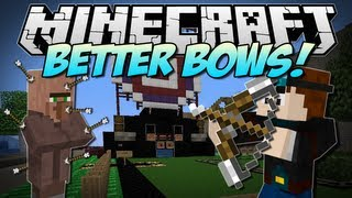 Minecraft | BETTER BOWS! (Revamped Bows & Amazing Arrows!) | Mod Showcase [1.5.2]