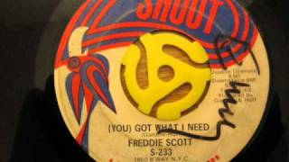 Freddie Scott - You Got What I Need.wmv