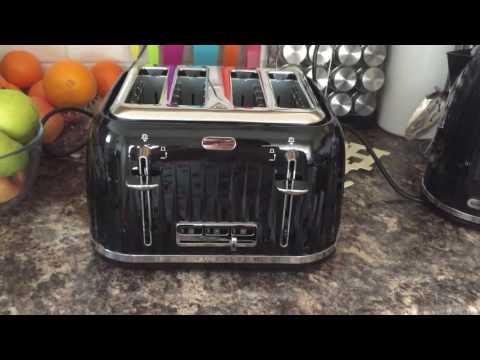 Breville impressions black gloss 4 slice toaster