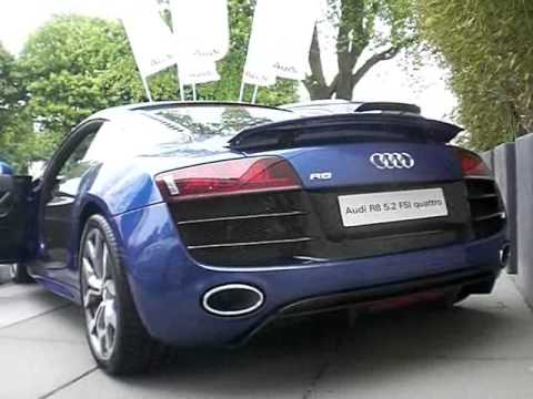 Audi R8 5.2 FSI V10 engine start up & revving!!