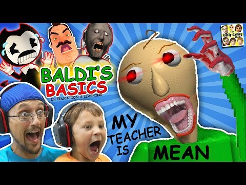 CRAZY SPANKING TEACHER!! Baldi's Basics in Education & Learning! (FGTEEV Math Game)