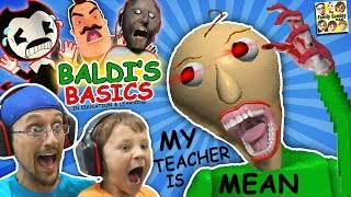 CRAZY SPANKING TEACHER Baldi s Basics in Education Learning FGTEEV Math Game