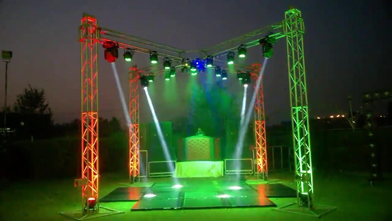 Best Dj Light Sound setup for open area wedding event and
