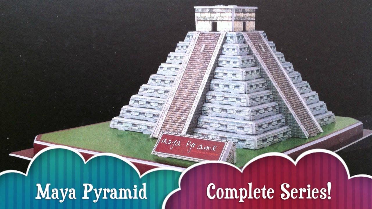 Complete Series 3D Puzzle Mexican Maya Pyramid El Castillo