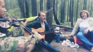 """""""Темная ночь"""".  КАВЕР под гитару и скрипку. У костра"""