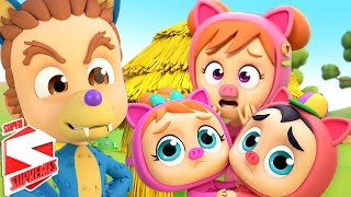 Three Little Pigs | Story Time | Pretend Play Song | Bedtime Stories For Kids with Super Supremes